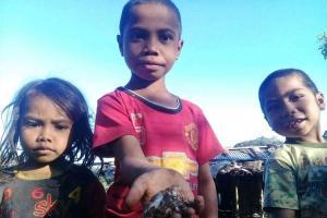 Demi Nafkai Keluarga, Bocah SD di Rana Kolong, Matim Jual Jamur